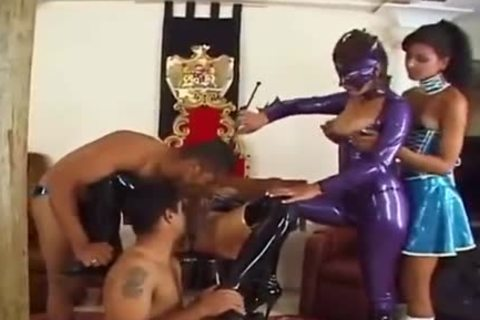 lady-man In Latex bdsm orgy