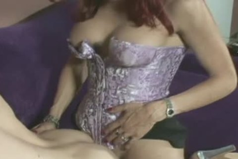 attractive ladyboy Redhead Sucks cock And receives Her booty poked On The Cocuh