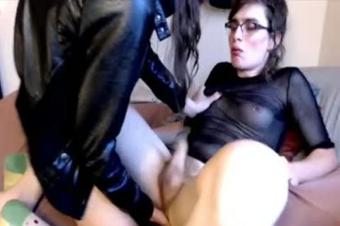Hung Femboy anal Prostage Massage lucky shemale